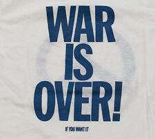 "Beatles John Lennon t-shirt Vintage ""War is Over"" Late 70s Tee S Small Yoko Ono"