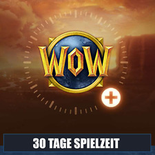 WoW / World of Warcraft  30 Tage Spielzeit Guthaben / Gametime / Ebay+ -EXPRESS