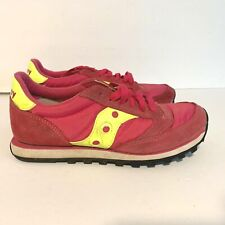 Saucony Womens Lx 7 Pink Yellow Athletic Shoes Sneakers Jazz Low Pro