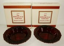 Avon New Vintage 1876 Cape Cod Collection Lot of 2 Soup Cereal Bowls Red Glass
