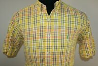 Ralph Lauren Mens Blake Long Sleeve Button Down Shirt Size Small Yellow Plaid