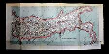 1909=Plant Topografica Colori ITALIA CENTRO-SUD.Dufrenoy.Thuillier.Passepartout