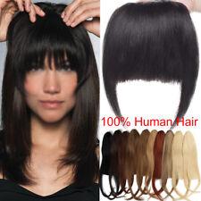 Real Natural Human Hair Extensions Clip In Front Human Hair Bangs / Fringe A446