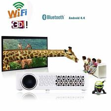 New listing 1080P Wifi 3D Hd Dlp Projector Home Theater Cinema Hdmi Usb Rj45 Android White