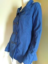 Hurley Women fall Jacket Hoodie Blue SMALL spring coat buttoned front
