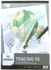 Canson Tracing Paper 90gsm A4 Pad 50 Sheets