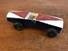 Pinewood Derby Race Car Vintage 1970s Folk Art Hand Made Cub Scouts BSA HD10