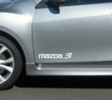 MAZDA 3 Mazdaspeed Hatchback Decal sticker emblem logo WHITE (PAIR)