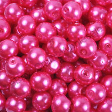 Top Quality Czech Glass Pearl Round Beads Choose - 4MM, 6MM, 8MM & 10MM