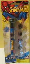 2009 Spider Man Toy Flashlight with 6 Wall Projection Image Disks