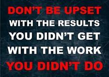 LEBEN INSPIRIEREND / MOTIVATIONS ZITAT POSTER DRUCK BILD DON'T BE UPSET