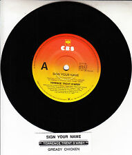 """TERENCE TRENT D'ARBY  Sign Your Name 7"""" 45 rpm record + juke box title strip"""