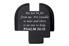 For Springfield Armory XDS 9mm .40 .45 Rear Slide Plate BLK Bible Psalm 22:11