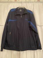 Vintage Champion Mens Windbreaker Jacket Colorblock Size Blue Full Zip Up Medium