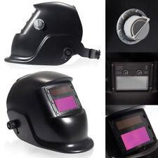 New Pro Solar Auto Darkening Welding Helmet Arc Tig mig Grinding Mask Black