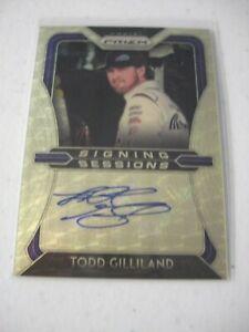 TODD GILLILAND 2020 Prizm NASCAR RACING Auto 1/1 Gold SS-TG Autograph Card
