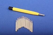 Set 1x Glasfaserradierer 4 mm gelb + 12 Glasfaser-Ersatzpinsel Polierstift