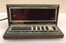 Spartus Electronic Digital Alarm Clock Apollo Model 1140 WoodGrain Black Vintage