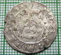 POLAND LITHUANIA SIGISMUND III WASA 1614 1-1/2 GROSZ GROSCHEN - POLTORAK, SILVER