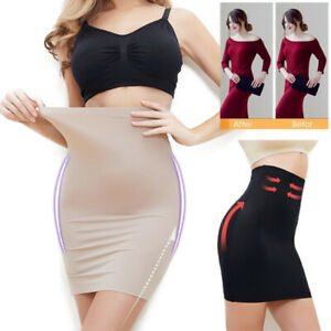 Women's Half Slip Under Dress Body Shaper High Waist Tummy Control Shapewear New