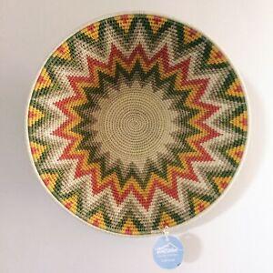 Fair trade Zig Zag Tintsaba Basket - African Wall decor - Ethical Woven bowl