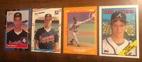 1988 Tom Glavine Rookie Lot (4 Cards) Atlanta Braves New York Mets HOF
