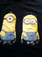 Mens Minios Navy Blue Short Sleeve Cotton T Shirt Size Large L