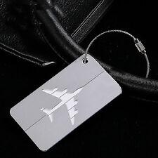 Silver Color Aluminium Metal Travel Luggage Baggage Suitcase Address Tag Label