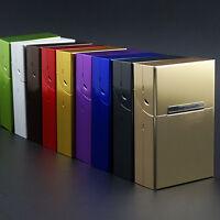 ALUMINIUM Metall Zigaretten Etui Box Zigarettendose mit Magnet