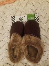 Isoroner Woodlands Womens Slippers - Chocolate 8/9