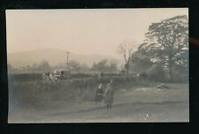 Somerset BISHOPS LYDEARD? field meeting nice early motor truck c1920s? RP PPC