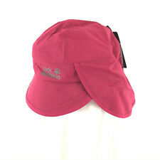 Jack Wolfskin Kids Rainy Day Hat Headgear Water Wind Proof Neck Protector Red S