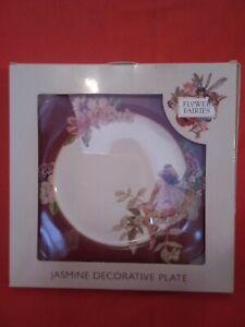 Enesco Flower  Fairies Jasmine Decorative Plate Cicley M Barker