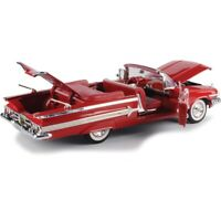 1960 CHEVY IMPALA CONVERTIBLE RED 1:18 SCALE BY MOTOR MAX 73110