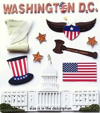 EK SUCCESS JOLEE'S BOUTIQUE 3-d STICKERS-WHITE HOUSE AMERICA WASHINGTON DC
