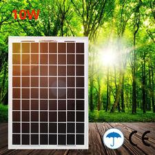 10W 12v Solar Panel Kit Battery Charger Power Charging Caravan Camping