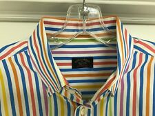 Paul & Shark Yachting Mens Dress Shirt Striped Button Down Long Sleeve Size 43