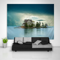 Lake Landscape Tapestry Art Wall Hanging Sofa Table Bed Cover Poster