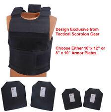 Complete Level III AR500 Steel Body Armor With Dual Pocket Lightweight Vest