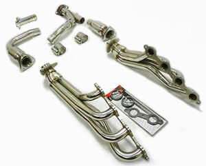 OBX Exhaust Long Tube Header For 2009-2013 Chevy GMC 1500 Vehicles 4.8/5.3/6.0L