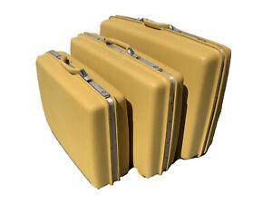 Vintage Samsonite Montbello II Saturn Hard Case Suitcase 3 Piece Set