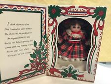 Marie Osmond doll Porcelain Greeting Card Mini Doll Christmas 1993 Original Box