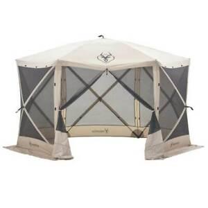 """Gazelle G6 8 Person 6 Sided 124"""" x 124"""" Portable Gazebo Screen Tent (Open Box)"""