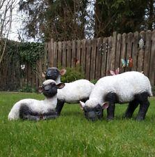 3-er Set Lamm Lämmchen  Garten Deko-Figur Schaf Tierfigur wetterfest 10534