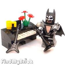 BM005P Lego Musical Glam Metal Batman Minifigure with Microphone Guitar & Piano