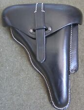 WWII GERMAN P38 HARDSHELL PISTOL HOLSTER- BLACK LEATHER