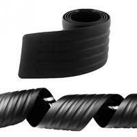 Car Rear Bumper Sill Protector Plate Rubber Cover Guard Back Door Boot Crash SA1