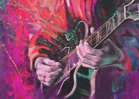 A1 | Guitar Player Painting Poster Print 60 x 90cm 180gsm Wall Art Decor #14289