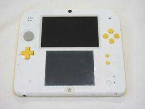 C447 Nintendo 2DS console Super Mario Model White x Yellow Japan REAR sx