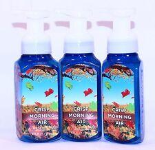 3 Bath & Body Works CRISP MORNING AIR Foaming Hand Soap PINE JUNIPER PEAR